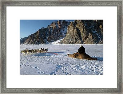 Walrus Hunting Framed Print by Louise Murray