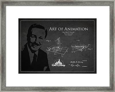 Walt Disney Patent From 1936 Framed Print by Aged Pixel