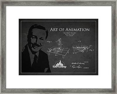 Walt Disney Patent From 1936 Framed Print