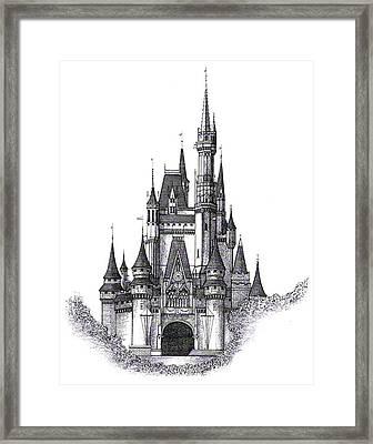 Walt Disney World Cinderella Castle Framed Print By Charles Ott