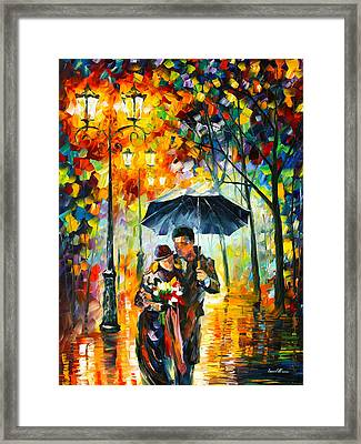 Warm Night Framed Print by Leonid Afremov