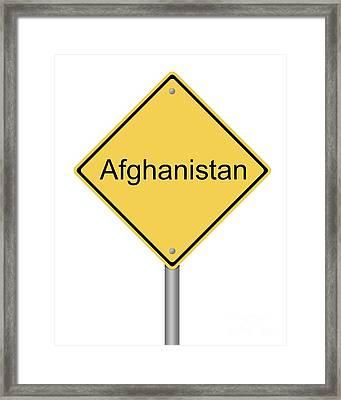 Warning Sign War Framed Print