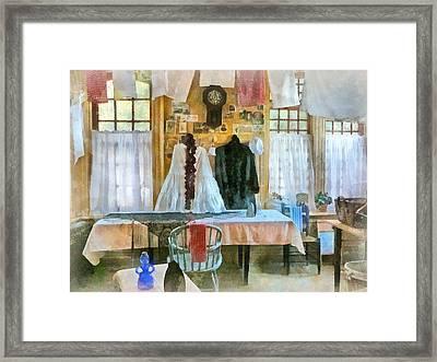 Washday Framed Print by Susan Savad
