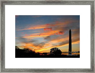 Evening Washington Monument Framed Print