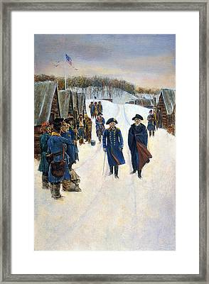 Washington: Valley Forge Framed Print by Granger