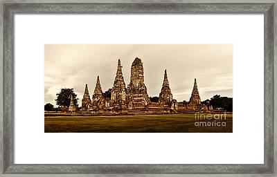 Wat Chaiwatthanaram Ayutthaya  Thailand Framed Print by Fototrav Print