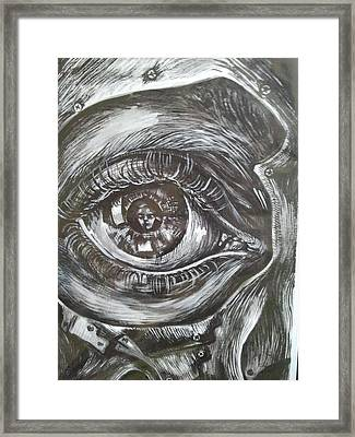 Watch Or See Framed Print by Gergana Bojikova