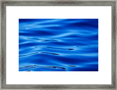 Blue Water - Art Photography Abstract Framed Print by Modern Art Prints