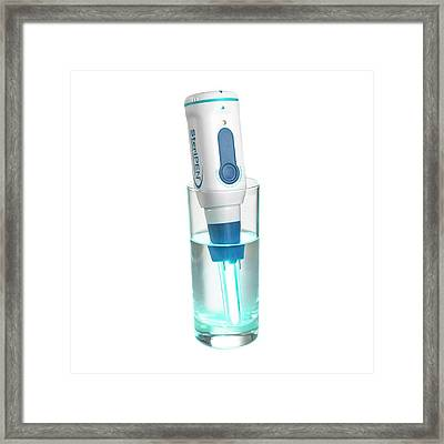 Water Sterilisation Pen Framed Print by Science Photo Library