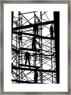 Water Tower Silhouette  Framed Print by Allen Beatty