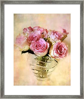 Watercolor Roses Framed Print by Jessica Jenney