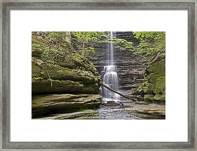 Waterfall At Matthiessen State Park Framed Print