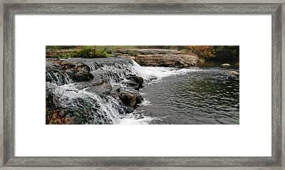 Spring Creek Waterfall Framed Print