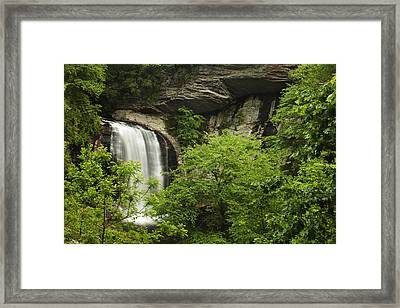 Waterfall In The Woods Framed Print by Andrew Soundarajan
