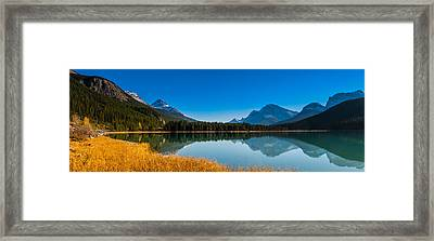 Waterfowl Lake Framed Print by Brandon Smith