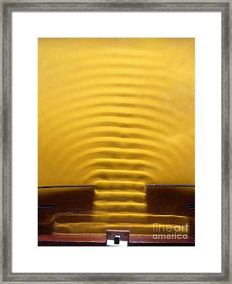 Wave Diffraction Experiment Framed Print by Andrew Lambert Photography