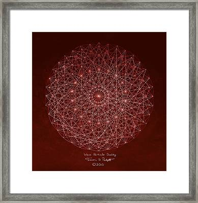 Wave Particle Duality Framed Print by Jason Padgett