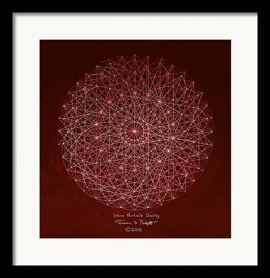 Electron Drawings Framed Prints
