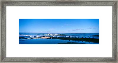 Waves In The Sea Framed Print
