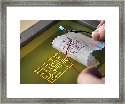 Wearable Electronics Framed Print by Andrew Brookes, National Physical Laboratory