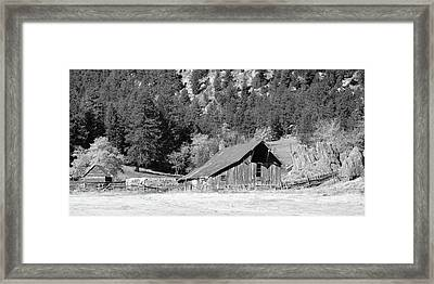 Framed Print featuring the photograph Weathered Barn by Harold Rau