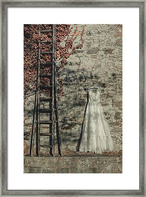 Wedding Dress Framed Print by Joana Kruse