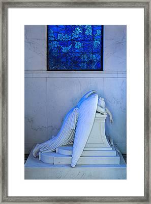 Weeping Angel II Framed Print by Chris Moore
