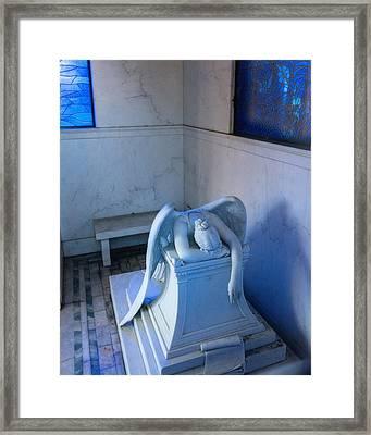 Weeping Angel Iv Framed Print by Chris Moore