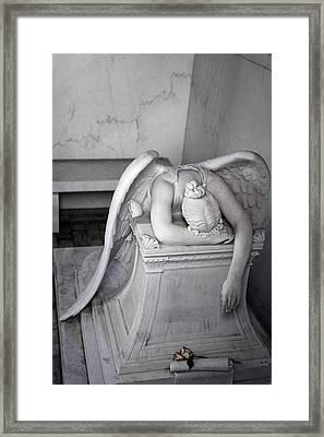 Weeping Angel Vi Framed Print by Chris Moore