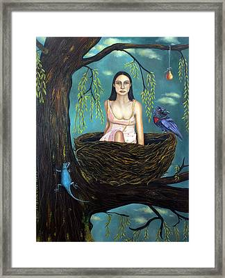 Weeping Willow Framed Print by Leah Saulnier The Painting Maniac