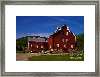 West Monitor Barn. Framed Print