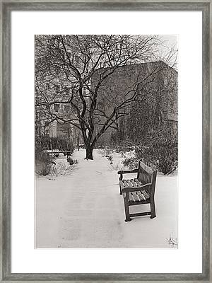 West Village Snow  Framed Print