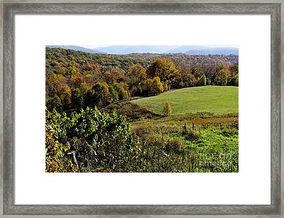 West Virginia Fall Color Framed Print by Thomas R Fletcher