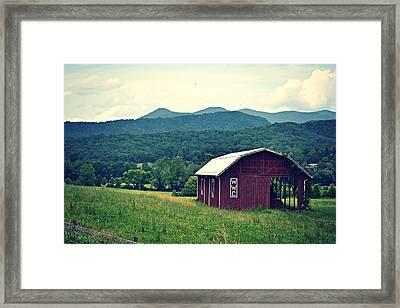 Western North Carolina Farm Framed Print
