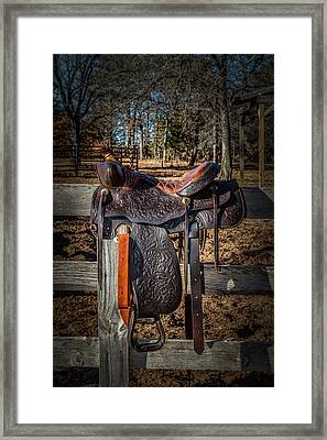 Western Saddle Framed Print
