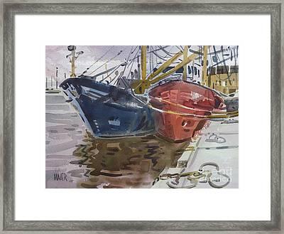 Wexford Fishing Boats Framed Print