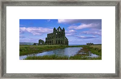 Whitby Abbey Framed Print by Trevor Kersley