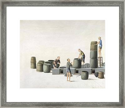 White Lead Production, 19th-century China Framed Print by British Library
