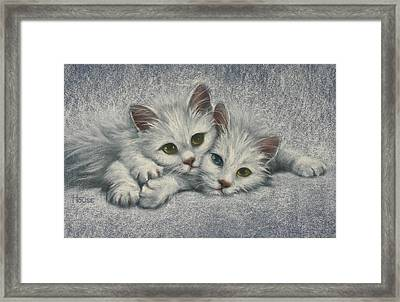 White On White Framed Print by Cynthia House