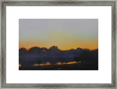 White Rock Lake Dusk Sold Framed Print by Cap Pannell