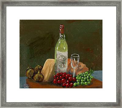 White Wine Framed Print