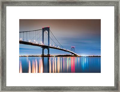 Whitestone Bridge Framed Print