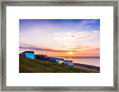 Whitstable Beach Huts. Framed Print by Ian Hufton