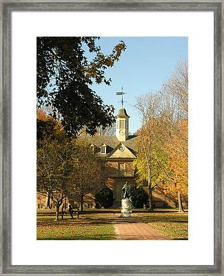 William And Mary College Framed Print