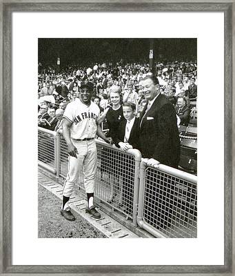 Willie Mays Framed Print
