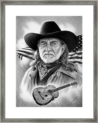 Willie Nelson American Legend Framed Print
