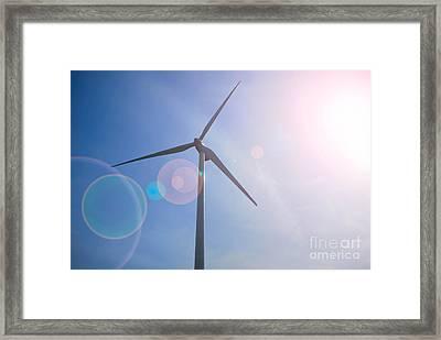 Wind Turbine Framed Print by Amy Cicconi