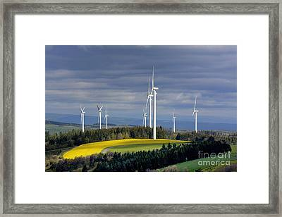 Wind Turbines Framed Print by Bernard Jaubert