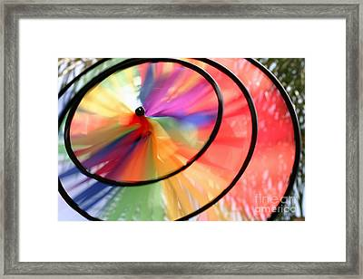Framed Print featuring the photograph Wind Wheel by Henrik Lehnerer