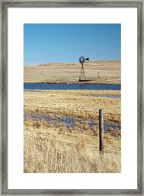 Windmill Framed Print by Jim West